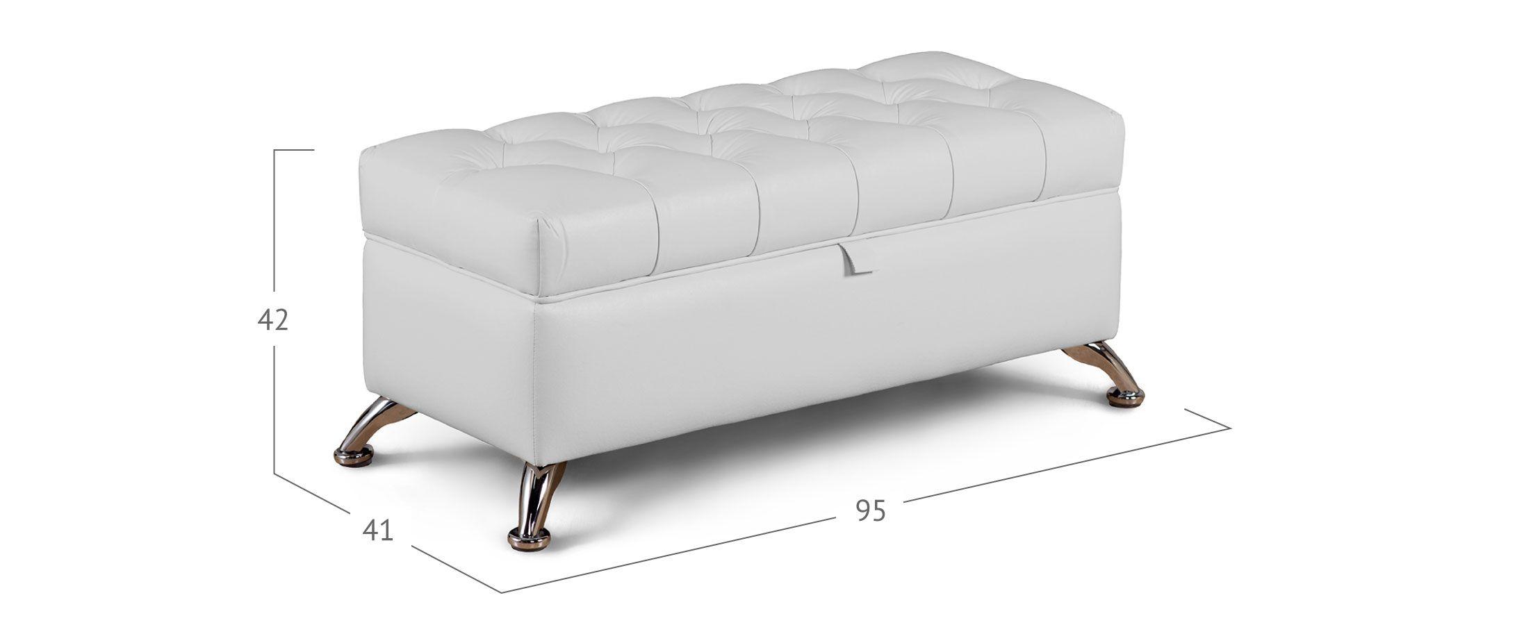 Банкетка Рондель молоко Модель 581