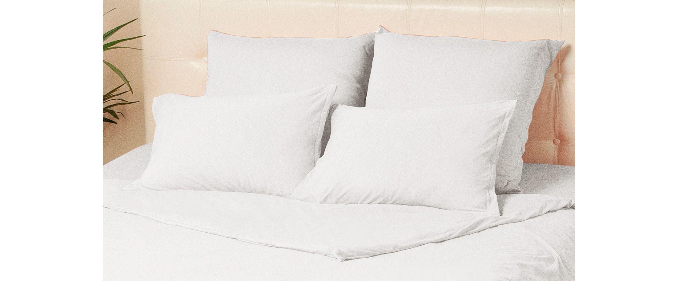Комплект наволочек на молнии 50х70 белого цвета Violett Модель 4002