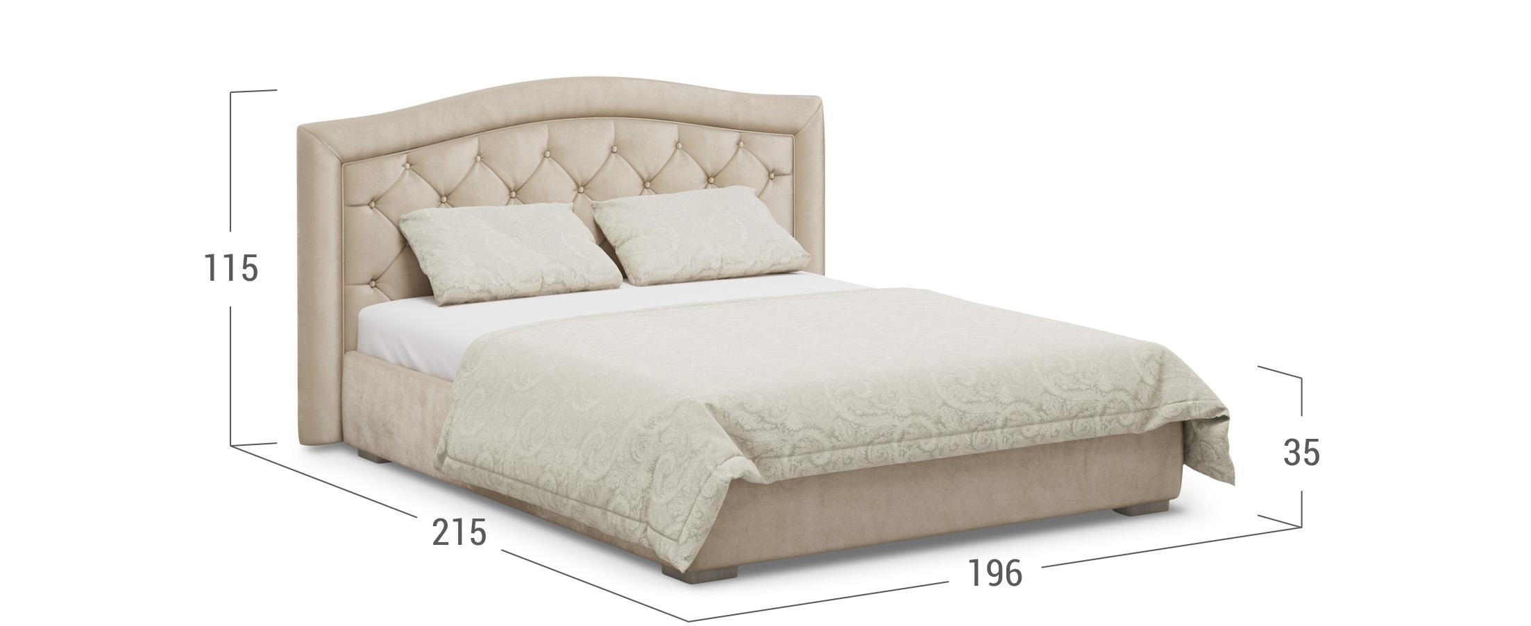 Кровать двуспальная MOON 1001а