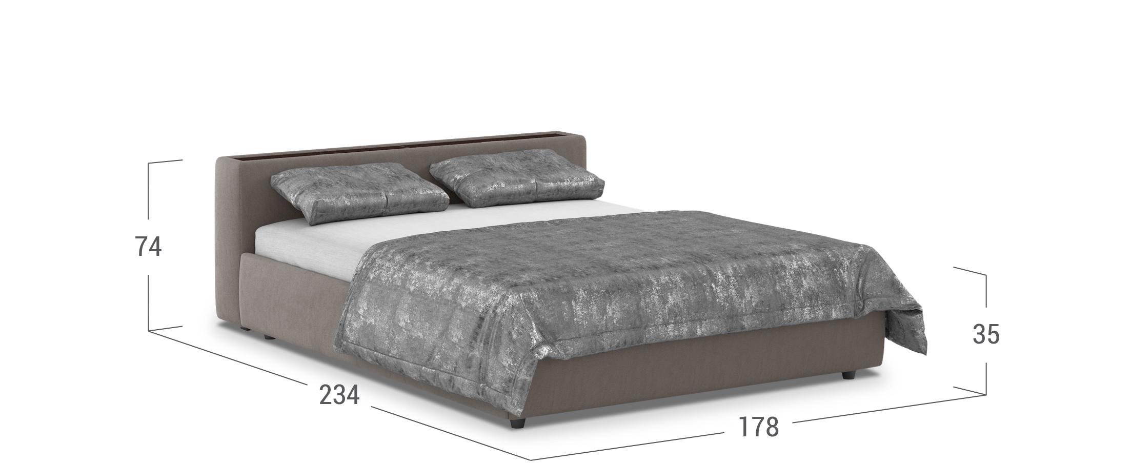 Кровать двуспальная MOON 1007